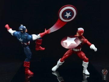 marvel legends captain america figure review 80th anniversary - vs red guardian