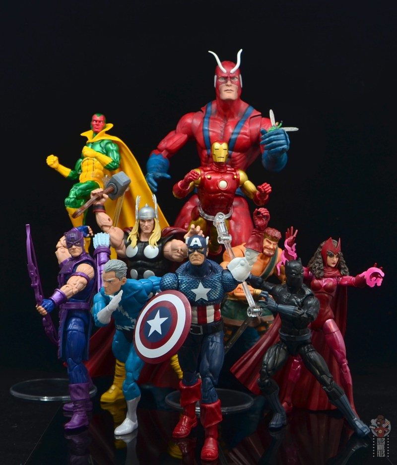 marvel legends captain america figure review 80th anniversary - with avengers