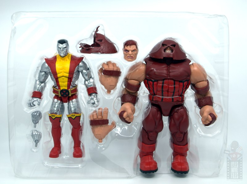 marvel legends colossus and juggernaut figure review 80th anniversary - in tray