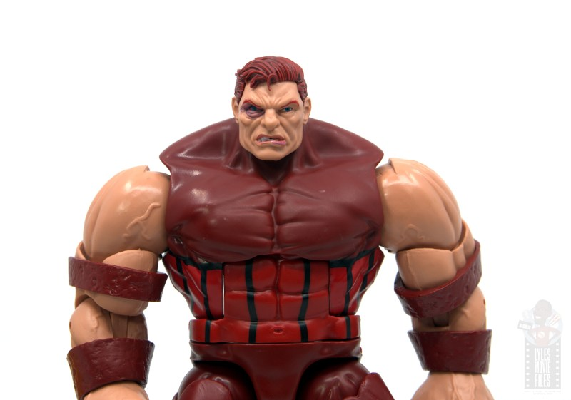 marvel legends colossus and juggernaut figure review 80th anniversary - juggernaut helmet off