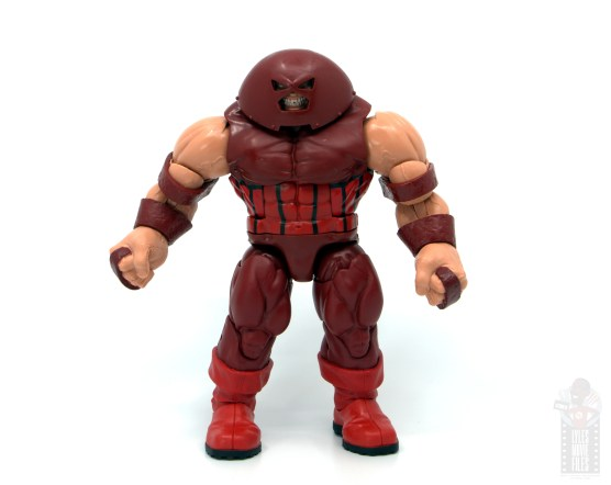 marvel legends colossus and juggernaut figure review 80th anniversary - juggernaut wide stance