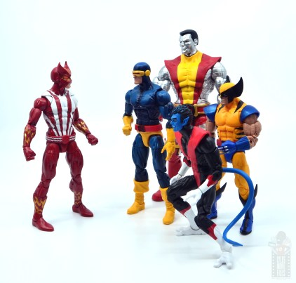marvel legends colossus vs juggernaut figure review - 80th anniversary - with sunfire, cyclops, nightcrawler and wolverine