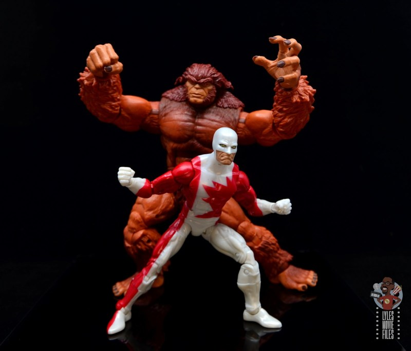 marvel legends guardian figure review - going into battle with sasquatch