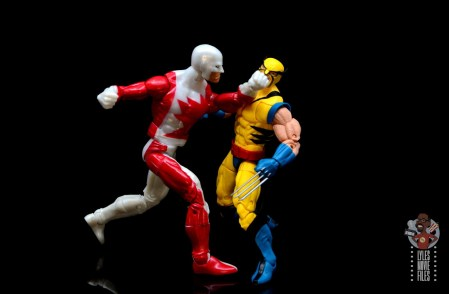 marvel legends guardian figure review - punching wolverine