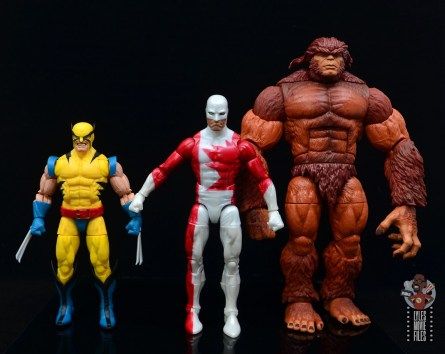 marvel legends guardian figure review - scale with wolverine and sasquatch
