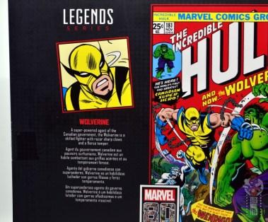 marvel legends hulk vs wolveringe figure review 80th anniversary - package wolverine bio