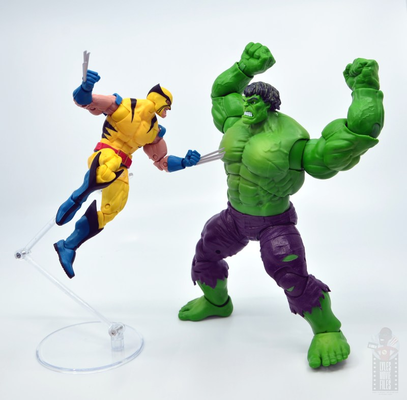 marvel legends hulk vs wolveringe figure review 80th anniversary - wolverine vs hulk