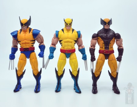 marvel legends hulk vs wolveringe figure review 80th anniversary - wolverine with earlier hasbro wolverine