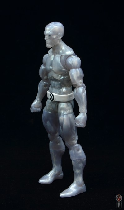 marvel legends iceman figure review - left side
