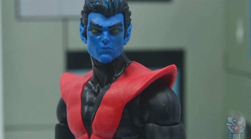 marvel legends nightcrawler figure review - close up