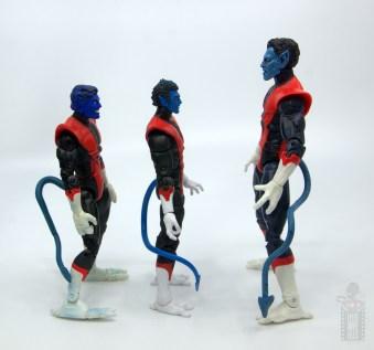 marvel legends nightcrawler figure review - facing toy biz nightcrawler and marvel select version