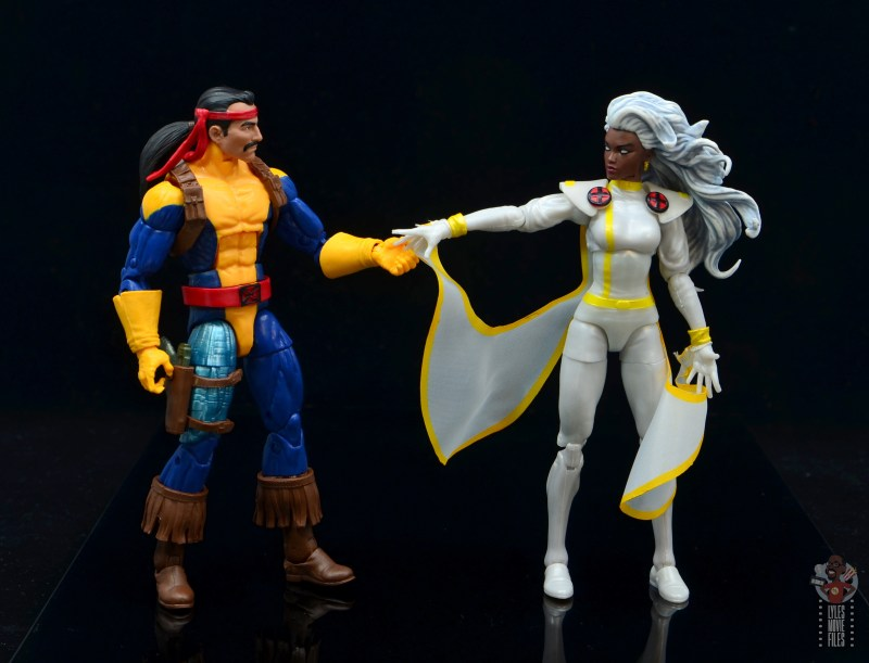 marvel legends storm figure review - with forge