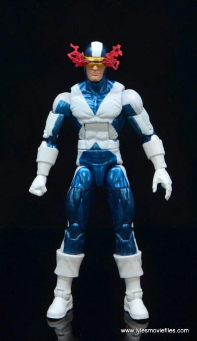 marvel legends x-factor cyclops figure review - front