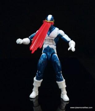 marvel legends x-factor cyclops figure review - optic blast detail