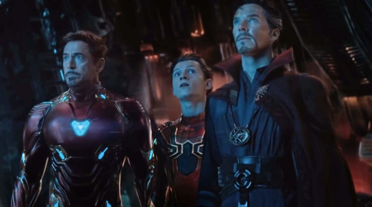 mcu iron man, spider-man and doctor strange