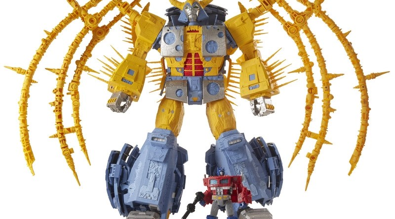 transformers unicron scale with optimus prime