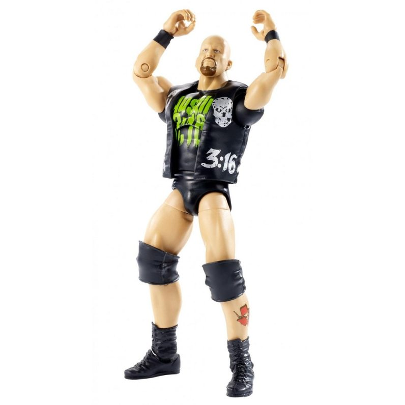 wwe ghostbusters stone cold steve austin figure - uniform off