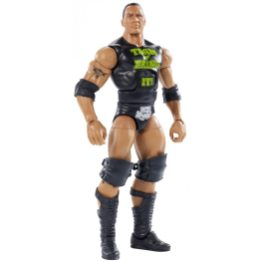 wwe ghostbusters the rock figure - accessories off