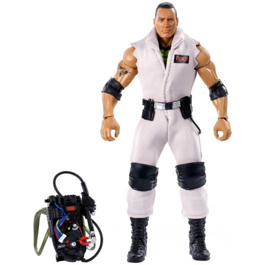 wwe ghostbusters the rock figure - all accessories
