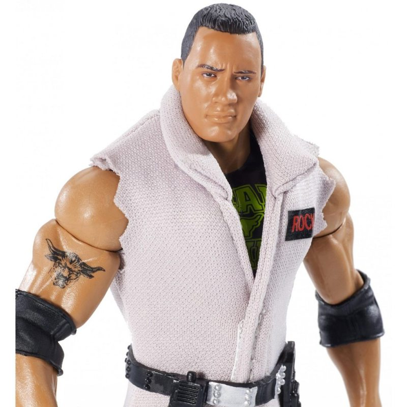wwe ghostbusters the rock figure - close up