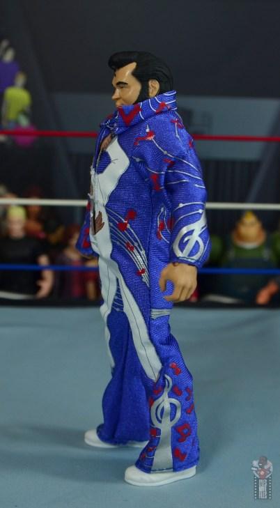 wwe retrofest honky tonk man figure review - jumpsuit left side