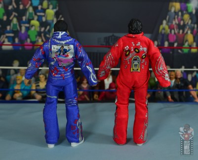 wwe retrofest honky tonk man figure review - with first honky tonk jumpsuit rear