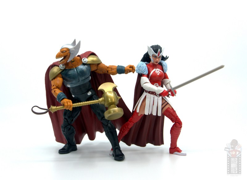 Marvel Legends Beta Ray Bill figure review - back to back with lady sif