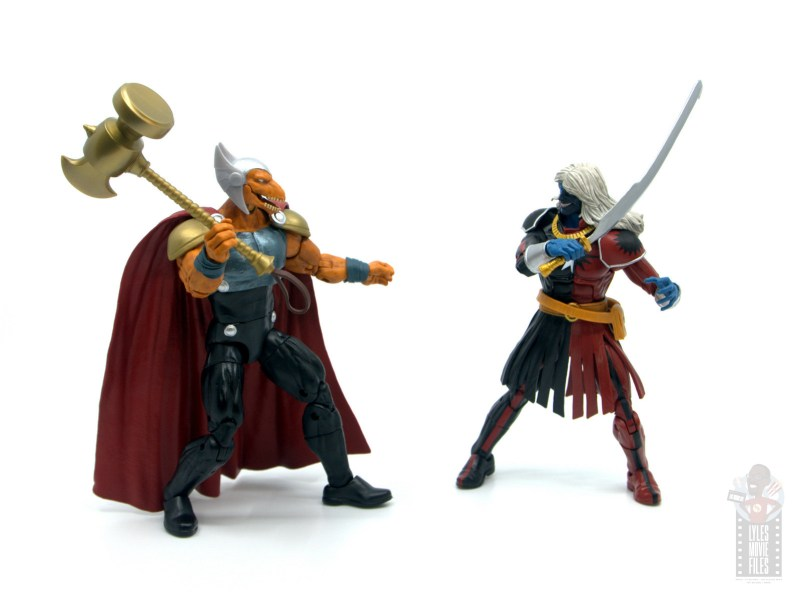 Marvel Legends Beta Ray Bill figure review - face off with malekith