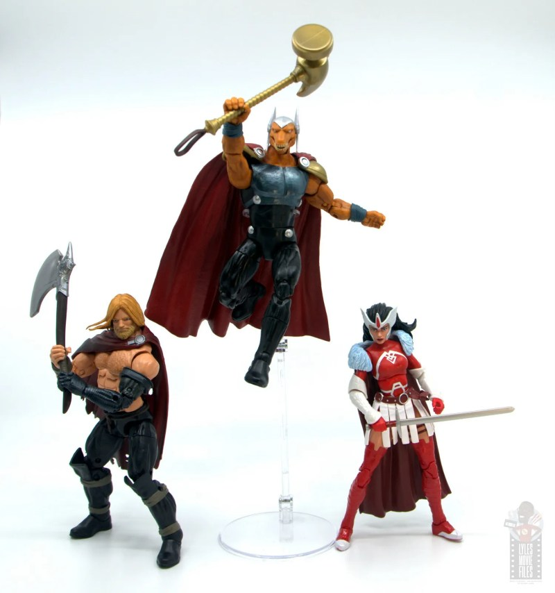 Marvel Legends Beta Ray Bill figure review - ready for battle with unworthy thor and sif