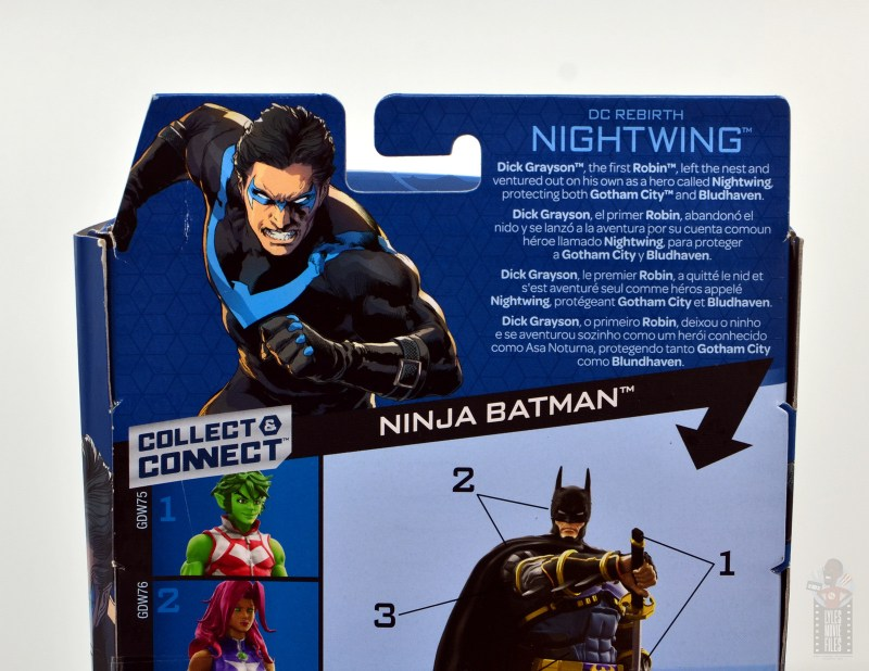 dc multiverse nightwing figure review - package bio