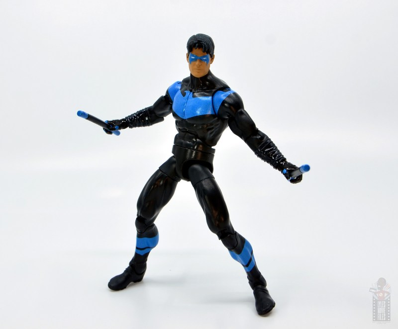 dc multiverse nightwing figure review - wide battle stance