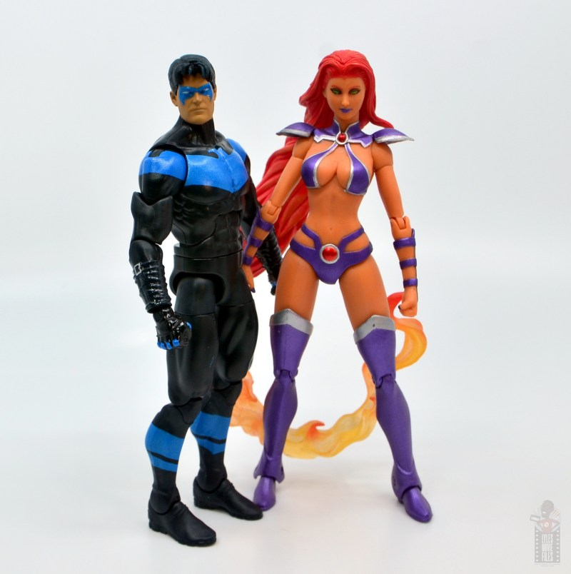 dc multiverse nightwing figure review -with dc 52 starfire