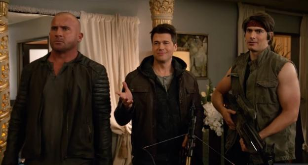 dc's legends of tomorrow season 4 - legends of to-meow meow - mick, nate and ray