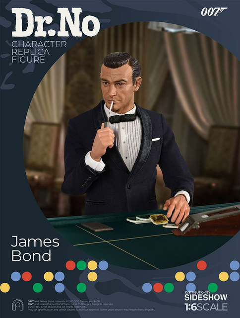 dr no james bond figure - with cards and cigarette
