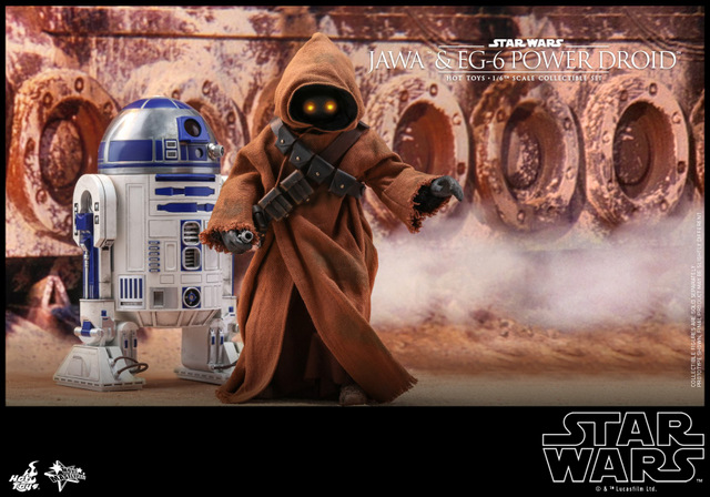 hot toys star wars Jawa and EG-6 Power Droid Collectible figure set - jawa with r2-d2