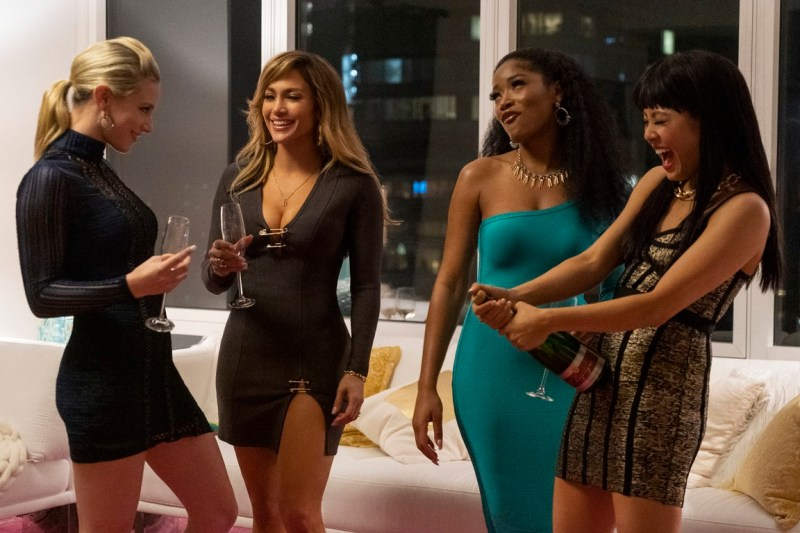 hustlers movie review - lili reinhart, jennifer lopez, keke palmer and contance wu
