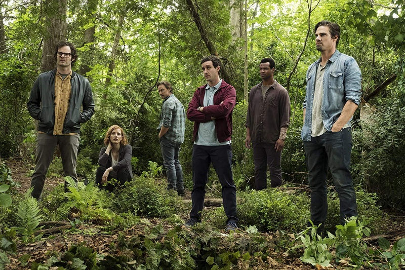 it chapter two movie review - bill hader, jessica chastain, james mcavoy, james ransone, isaiah mustafa and jay ryan