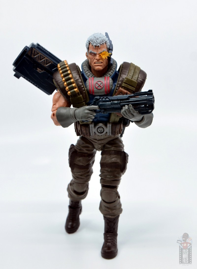 marvel legends cable figure review - charging with main blaster