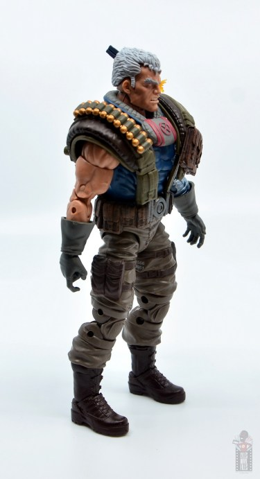 marvel legends cable figure review - right side