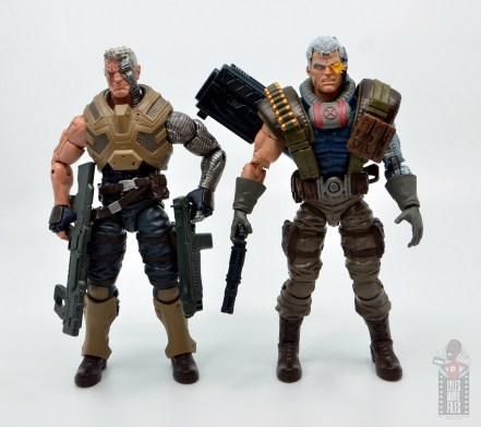 marvel legends cable figure review - with old cable