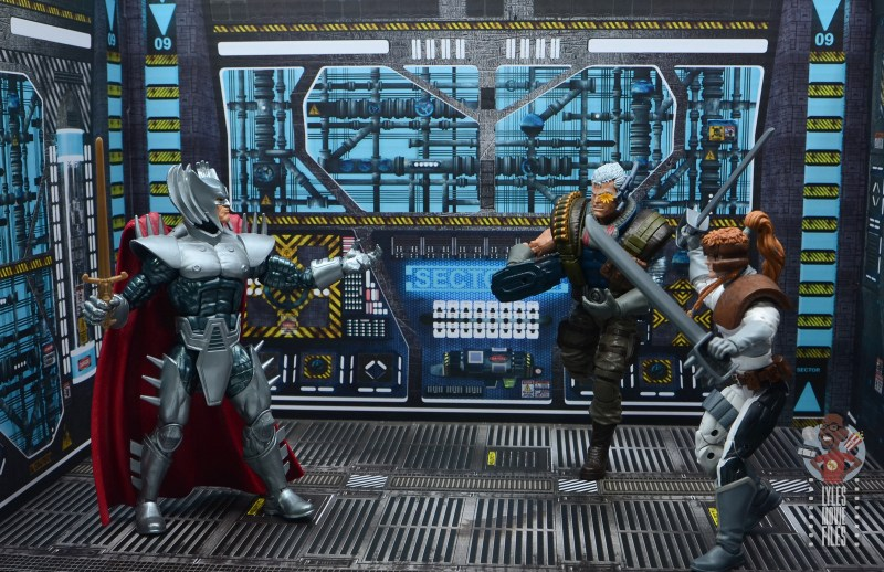 marvel legends cable figure review - with shatterstar vs stryfe