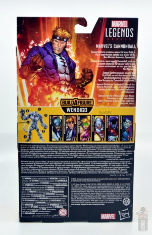 marvel legends cannonball figure review - package rear
