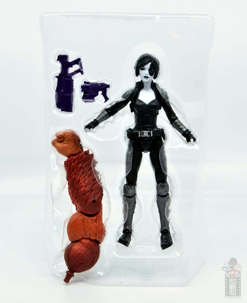 marvel legends domino figure review - inner tray