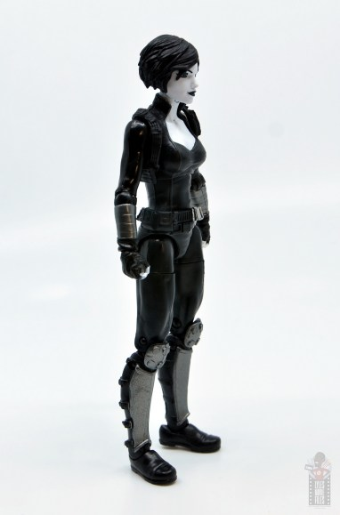 marvel legends domino figure review - right side