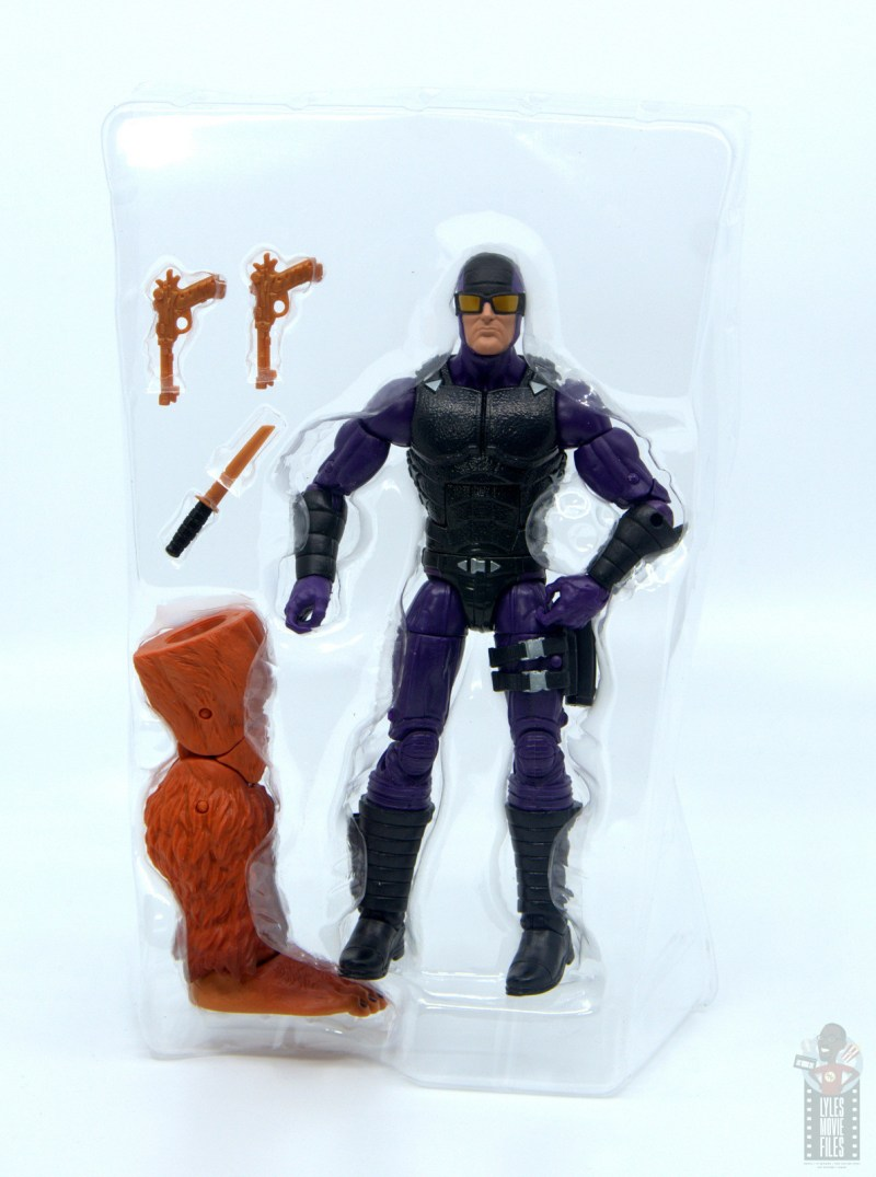 marvel legends paladin figure review - accessories in tray
