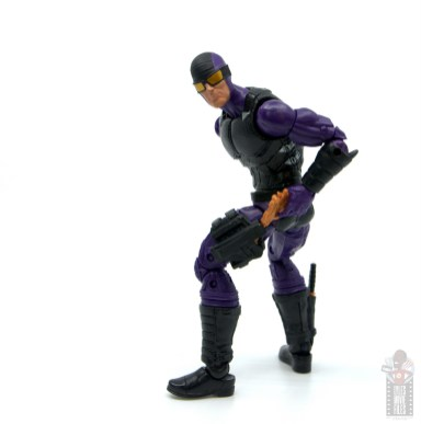 marvel legends paladin figure review - reaching for gun in holster