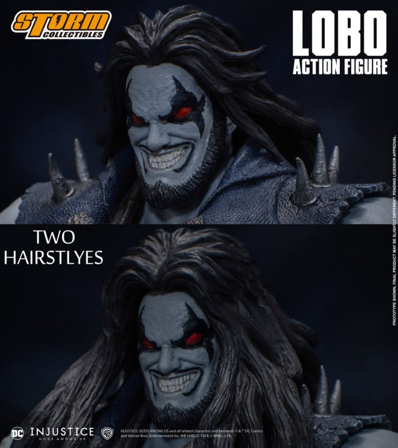 storm collectibles injustice gods among us lobo figure - hair
