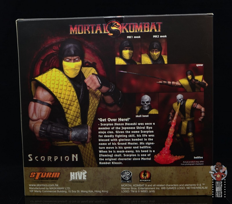 storm collectibles scorpion figure review -package rear