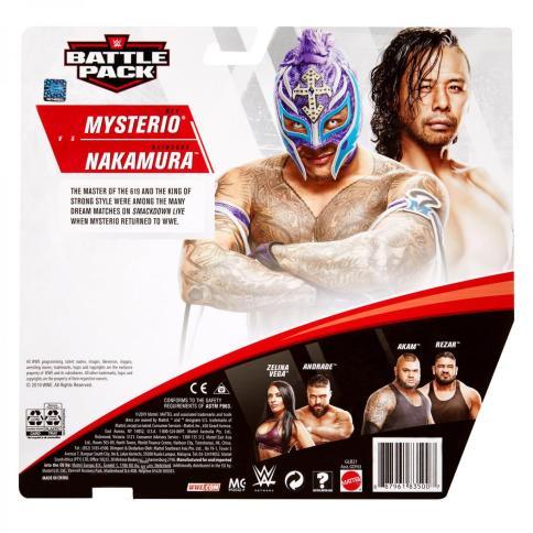 wwe battle pack 62 rey mysterio vs shinsuke nakamura - package rear