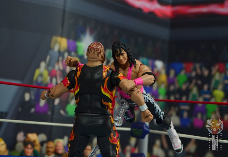 wwe bret hart king of the ring 1993 figure review - middle rope clothesline to bam bam bigelow